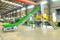 SUS304 Polythene Bags Recycling Machines 1000 Kg / H With Oil Washing Hot Washer
